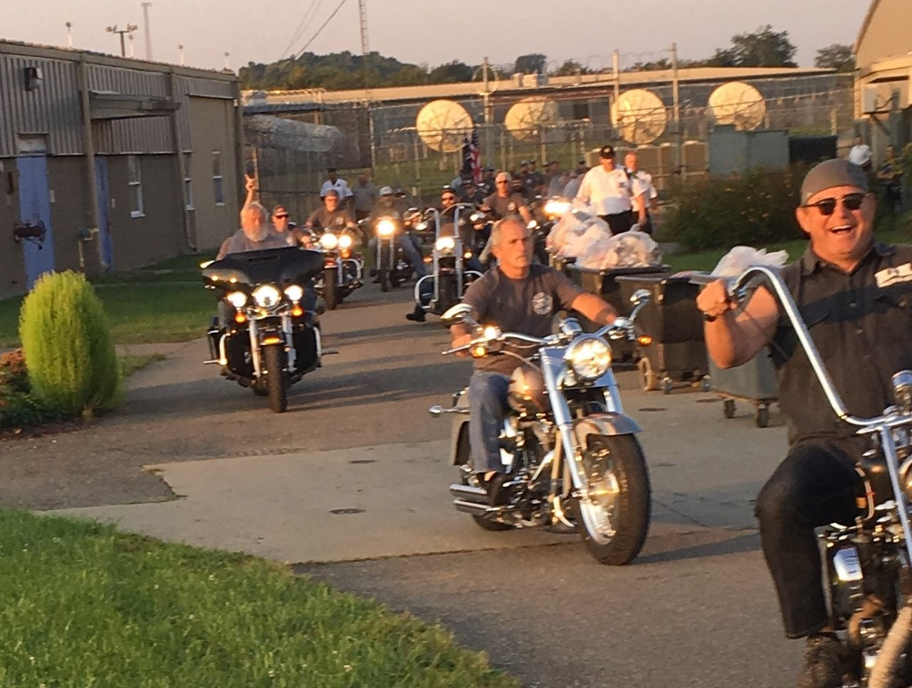 Hogs In Ministry Ride into Belmont Correctional Institution