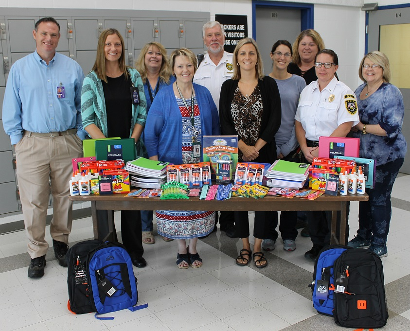 Supplies Donated to Local Schools by NCI's Women in Corrections Committee