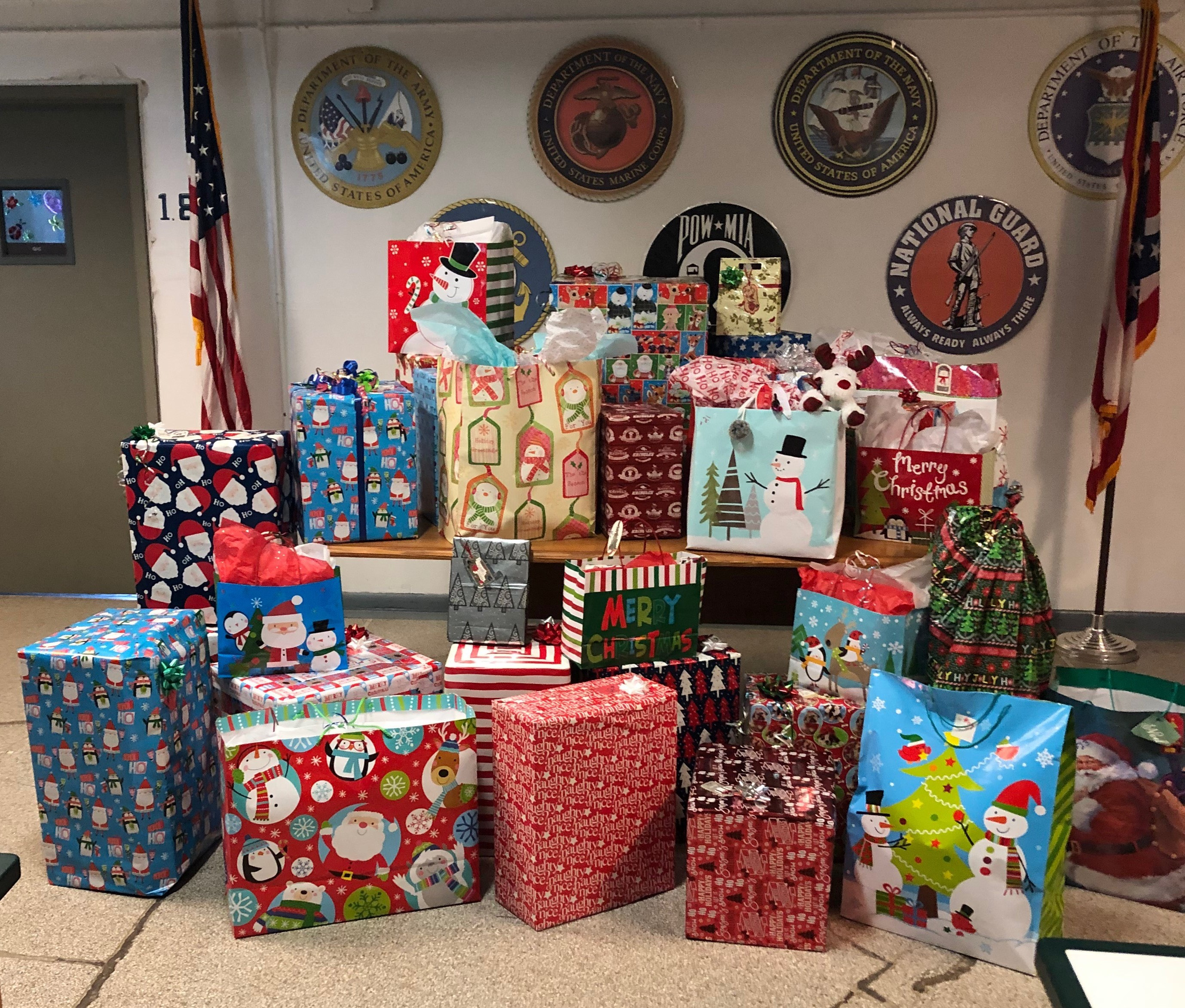 PCI Presents Christmas Presents to Job and Family Services