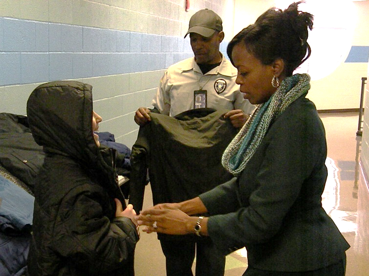 TCI's NAACP Group Donates Coats to Jefferson School