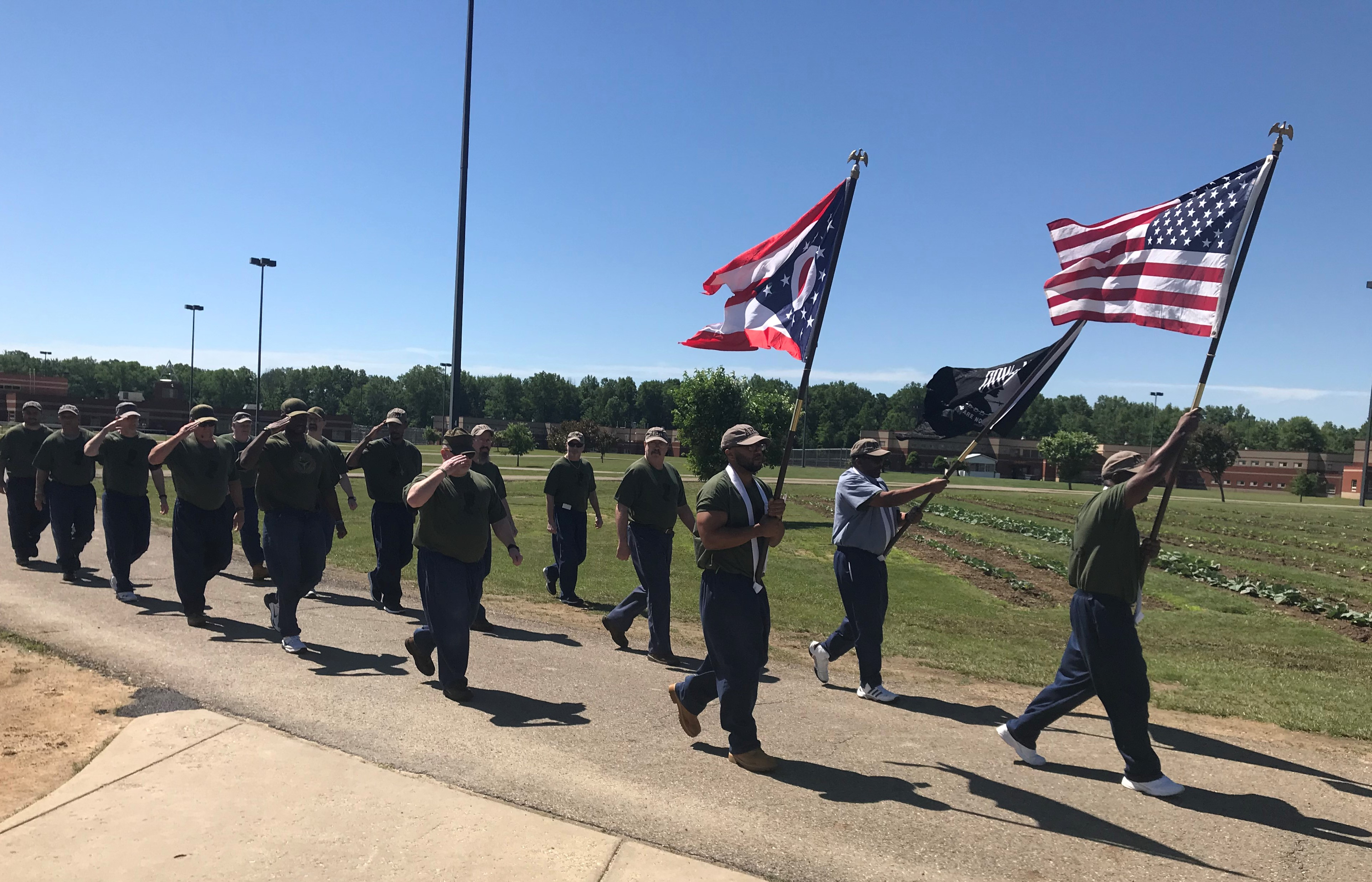 TCI Veterans Group Marching for Flag Day