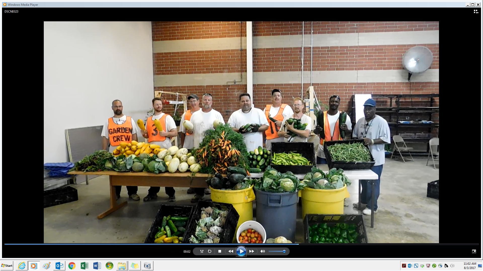 TCI Delivered 2,309 Pounds of Fresh Produce