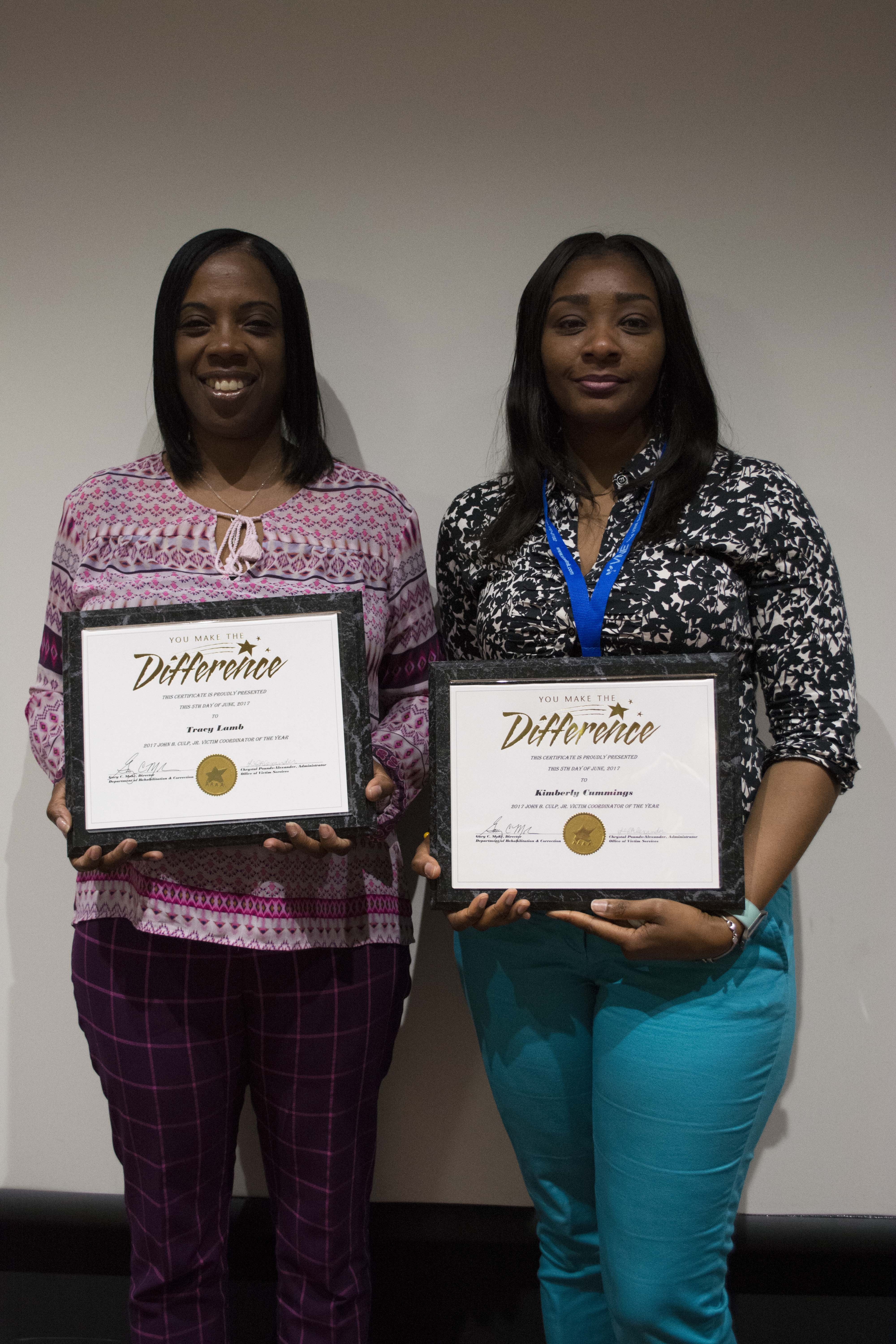 Victim Services Statewide Training and Award Recipients