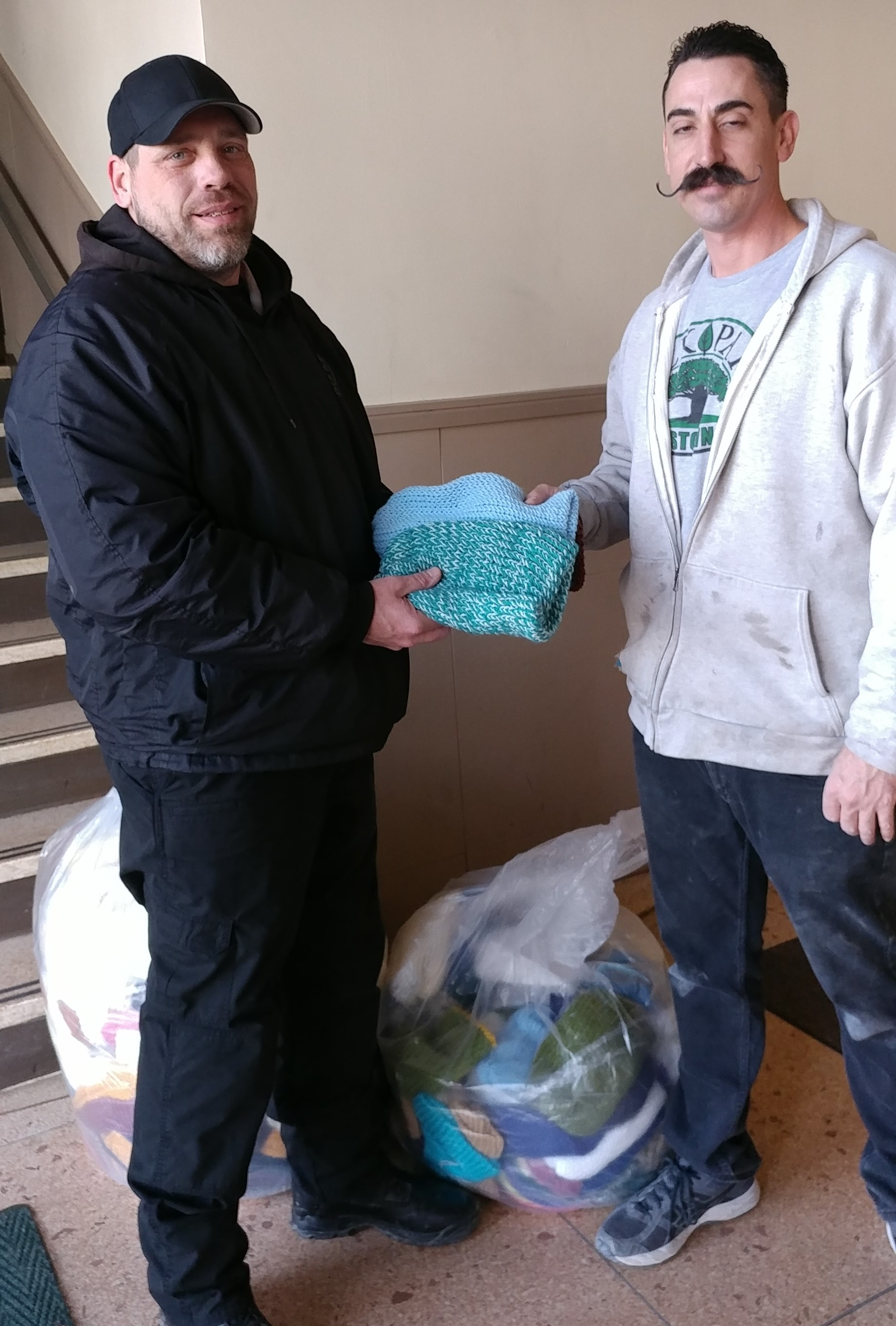TCI Offenders Donate Hats to the Homeless